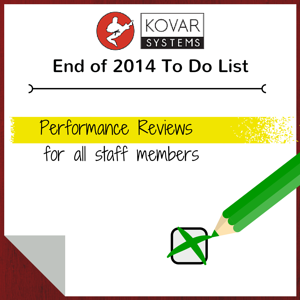 to do - end of year performance reviews